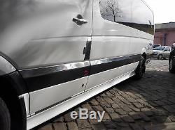 06-17 Mercedes SPRINTER W906 Chrome Side Door Streamer 10PCs Extra Long S. Steel
