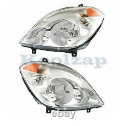 07-13 Sprinter 2500/3500 Headlight Headlamp Halogen Head Light Lamp Set Pair