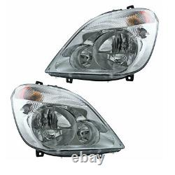 07-13 Sprinter 2500/3500 Van Front Headlight Headlamp Halogen Light Set Pair