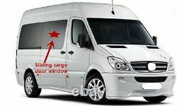 07-18 Freightliner Mercedes Sprinter Passenger Side Sliding Door Window Glass