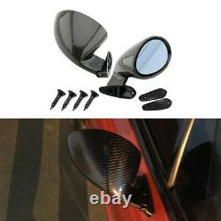 1 Pairs 3D Glossy Carbon Fiber Car Racing F1 Style Side Wing Mirrors Blue Kits