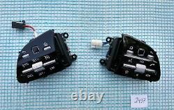 18-21 MERCEDES A220 C300 E300 G550 CONTROL BUTTON SWITCHES SET/PAIR black/chrome