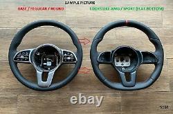 18-21 MERCEDES C W205 E W213 SPRINTER BASE WHEEL RED stripe/flat bottom/AMG look