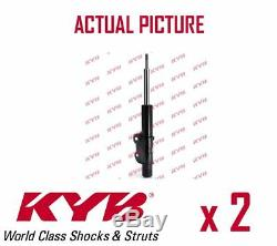 2 x FRONT AXLE SHOCK ABSORBERS PAIR STRUTS SHOCKERS KYB OE QUALITY 331702