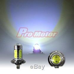 2 x H7 6K COB LED Headlight Bulbs Power High Beam CREE Hyper Cool White Lamp PRO