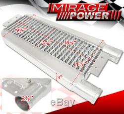 22.75 X11X3 Turbo Intercooler Same Side 2.5 Inlet & Outlet Mustang Focus Ford