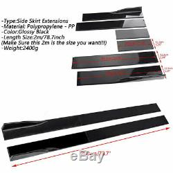 2M Side Skirts Extensions Panel For Honda Civic Accord Coupe / Sedan 9TH 10TH