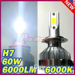 2PC H7 6500K 60W 6000LM LED High Beam CREE Error Free Headlight White LED Bulbs