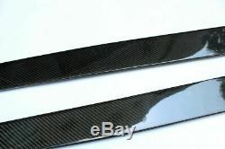 2PCS Rear Carbon Fiber 3D Side Skirts Panel Extension Spoiler Lip For Auto 205CM