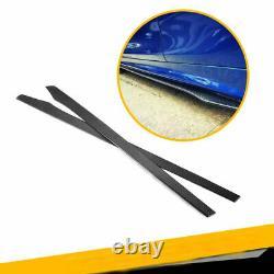 2PCS Rear Carbon Fiber 3D Side Skirts Panel Extension Spoiler Lip For Auto 215CM