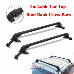 2Pcs Universal Roof Rack Overhead Side Rails Bar Luggage Carrier Aluminium Alloy