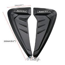 2pcs Universal Sports Side Wing Fender Vent Trim Air Flow Cover Decoration