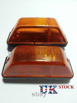 2x Amber Side Indicator Marker Lights E9 marked for MERCEDES SPRINTER / 403 Bus