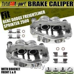 2x Brake Caliper with Bracket Front Sides for Dodge Mercedes-Benz Sprinter 2500
