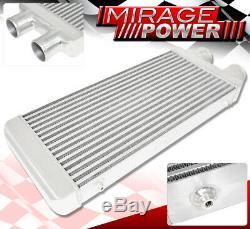 31.75x11.5x2.75 Aluminum Front Mount Intercooler 3 Same Side Inlet Outlet