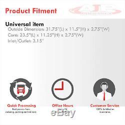 31.75x11.5x2.75 Front Mount Aluminum Intercooler Same Side 3 Inlet Outlet