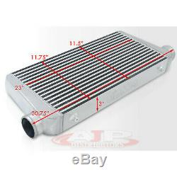 31X11.75X3 Big Bar Plate Racing Intercooler Turbo Charger Fmic Jdm Polished