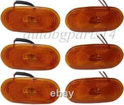 6pcs Side Marker Light Lamp Amber LEDs for MERCEDES SPRINTER-VW CRAFTER 4 LED