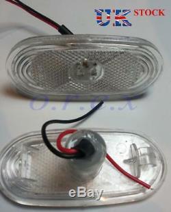 6x White Side Marker Lights LED Lamps for MERCEDES SPRINTER VW CRAFTER 4 LEDs