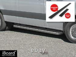 Brushed Silver 5 iBoard Side Step Nerf Fit 10-21 Dodge Mercedes-Benz Sprinter