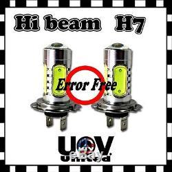 CREE 2 x H7 COB LED Light Bulbs High Beam Headlight Canbus Error Free Decoder U2