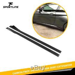 Carbon Fiber Side Skirts Extension For Benz W203 W204 W205 W211 W217 W218 215CM