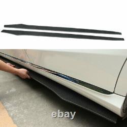 Carbon Fiber Side Skirts Panel Extension Body Kit Lip Add-On For Universal 205CM