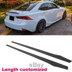Carbon Fiber Side Skirts Spoiler Lip Fit For BMW VW Benz AUDI Honda BMW 205CM