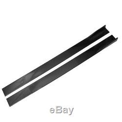 Carbon Look Side Skirts Rocker Panel Extension For Mercedes Benz CLA