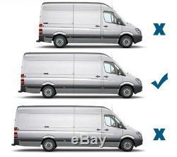 Chrome Side Door Trim Set Covers To Fit Mercedes-Benz Sprinter LWB (06+)