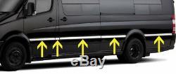 Chrome Side Door Trim Set Covers To Fit Mercedes-Benz Sprinter MWB (06+)