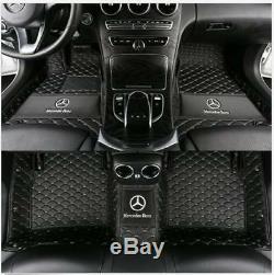 Custom car floor mats fit for Mercedes benz W204 W205 C180 C200 C300 C350 5SEATS