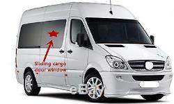 Fits 10-18 Mercedes Benz Sprinter Passenger Side Sliding Cargo Door Window Glass
