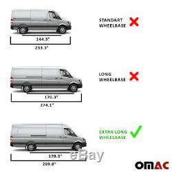 Fits Mercedes Sprinter 2006-2018 Chrome Side Door Trim Streamer Extra Long 170