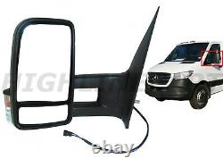 For 2006-2018 Sprinter Left Driver Side View Mirror Long ARM Heat Power Signal