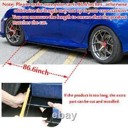 For Mercedes Benz Front Bumper Lip Spoiler Splitter Body Kit + 86.6 Side Skirt