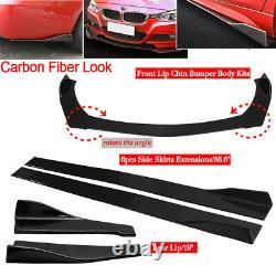 For Mercedes Benz Front Bumper Spoiler Body Kit+86 Side Skirt+Rear Lip US