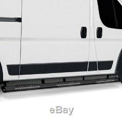For Mercedes-Benz Sprinter 2500 10-20 Luverne 6 O-Mega II Black Oval Side Bars