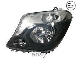 For Mercedes Sprinter 2013+ W906 Front Headlight Lamp N/S Passenger Side Rhd E24