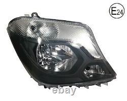 For Mercedes Sprinter 2013+ W906 Front Headlight Lamp O/S Driver Side Rhd E24
