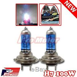 H7 5000K 100W Gas Xenon Halogen Headlight Hyper White High Beam Bulbs Lamp P3