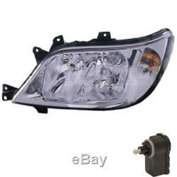 Halogen Headlight Right Mercedes Sprinter 903 Incl. Motor H7/H7/H3 S7T