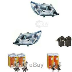 Headlight Set Mercedes Sprinter Type T1N 00-02 H1 +H7 Incl. Mo 57198887