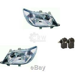 Headlight Set Mercedes Sprinter Type T1N Yr 02-06 H7 +H3 Incl. Mo 57196962