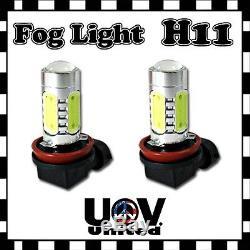 Hyper White 2 x H11 COB 6000K LED Driving Fog Lamp Light Bulbs Cool Power U3