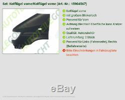 Kotflügel Vorne Links + Rechts Satz Set Für Mercedes Sprinter 3-tonner 903