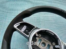 MERCEDES 18-19 A220 C300 E300 G550 NAPPA/ALCANTARA STEERING WHEEL FLAT non sport