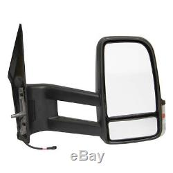 Mercedes Benz Sprinter Replacement Driver Side OS Wing Mirror Manual Black