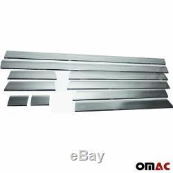 Mercedes SPRINTER W906 Chrome Side Door Streamer Protection Guard Steel 2006-18