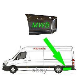 Mercedes Sprinter MWB Side Lower Panel Metal Steel Repair Moulding N/S 2006 2018